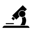 microscope solid icon lab tool vector image vector image