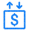 money elevator grunge icon vector image