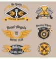 Motorcycle design badges vector image vector image