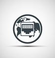 Network port Icon vector image