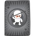 Ninja card vector image