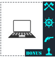 notebook icon flat vector image vector image