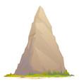one high mountain peak vector image vector image