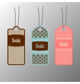 Ornate sale tags set vector image vector image