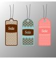 Ornate sale tags set vector image