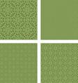 Pastel green seamless pattern background set