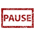 Pause rubber stamp vector image vector image