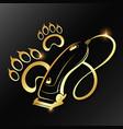 pet grooming golden symbol vector image