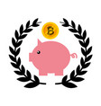 piggy savings with bitcoin vector image vector image