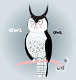 portrait of the long-eared owl vector image vector image