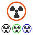 radiation danger flat icon vector image vector image