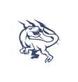 raptor mascot logo outline version raptors logo vector image