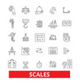 scales calibration proportion weights balance vector image