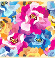 seamless bright floral pattern vector image vector image