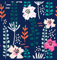 seamless tropical pattern with hand drawn plants vector image vector image
