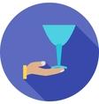 Serve Wine vector image