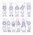 set of icons hello school vector image