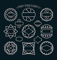 Set of outline emblems and badges vector image vector image
