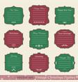 set of vintage christmas frames vector image vector image