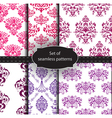 set seamless luxury patterns vector image vector image