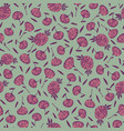 simple small scale floral seamless pattern vector image