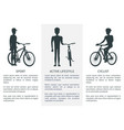 sport active lifestyle cycling vector image vector image