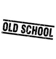 square grunge black old school stamp vector image vector image