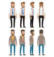 stylish businessman cartoon a vector image