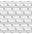 stylized black and white brick wall pattern vector image