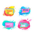 super and special sale offer stickers set vector image vector image