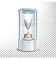 transparent glass museum showcase podium with vector image vector image