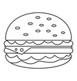 unhealthy burger icon outline style vector image vector image