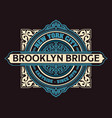 vintage new york brooklyn t-shirt vector image
