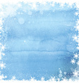 Watercolor christmas snowflake background 0211