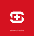 welcome to switzerland letter s with element vector image