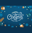 winter season holidays blue background with vector image