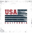 california usa typography t-shirt graphics stamp vector image