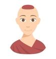 Buddhist monk vector image