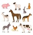 Set of farm animals vector image