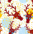 seamless background with brown deer on an orange vector image