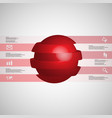 3d infographic template with ball sliced to six vector image vector image