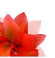 Abstract Red Tulip vector image vector image