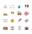 Amusement Park Icons Flat vector image vector image