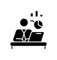 analyst black icon concept vector image vector image