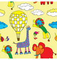 animals and balloon vector image vector image