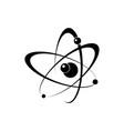 atomic energy symbol black icon vector image