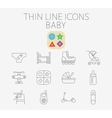 Baby related flat icon set vector image vector image