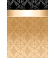 Background gold ribbon seamless floral pattern vector image vector image