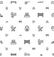 baicons pattern seamless white background vector image vector image