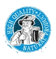 Beer ale logo design template Drink vector image vector image